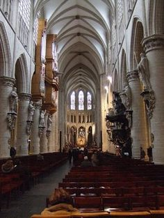 The Cathedral of St. Michael and Gudula is located in Brussels at the Treurenberg hill. The construction of Cathedral started at the beginning of the 13th century on the orders of Henry I, Duke of Brabant. It took almost 300 years to complete this Gothic Cathedral.