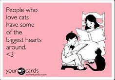 Las personas que aman a los gatos tienen algunos de los corazones más grandes que se puedan tener #cat #quotes #cats #quote =^..^= www.zazzle.com/kittyprettygifts
