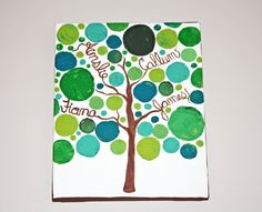Personalized family tree painting, small painting, 9x12, acrylic ...