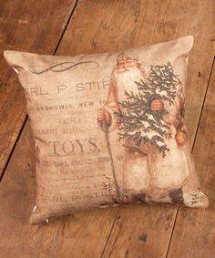 Loving this White Vintage Santa Pillow on #zulily! #zulilyfinds