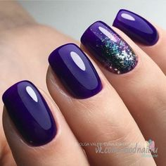 Wedding Nails For Bride Shellac Purple 20 Super Ideas You are in the right place about wedding nails for bride toes Here we offer you the most beautiful pictures about the wedding nail Dark Purple Nails, Dark Nails, Purple Nails With Design, Dark Nail Art, Purple Nail Art, Purple Nail Polish, Wedding Nails For Bride, Bride Nails, Purple Wedding Nails