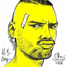Post-it Portrait by Christophe LARDOT                       Happy Birthday Greg ;-) @lesfaons   #man #manface #instaartist #instaartwork #portrait #portraiture #postitart #postitportraitsbychristophelardot #yellow  #plaster #grimace  #pout #lips #fulllips #earings #bearded #beardvillains #pencilsketch #pencilart #pencildrawing #drawing #christophelardot