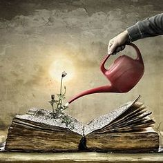 Growth from Books Illustration I Love Books, Books To Read, Reading Art, Girl Reading, World Of Books, Old Books, Surreal Art, Psychedelic Art, Book Lovers