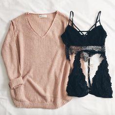 Madison Knit Sweater Adelia & Camille Bralette Frankie-Phoenix.com