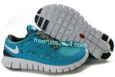 Mens Nike Free Run 2 Gray Jade Shoes