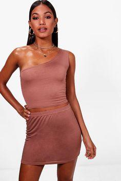 f3c6112f94ad Georgina One Shoulder Crop Top Boohoo, One Shoulder, Bodycon Dress, Body  Con,