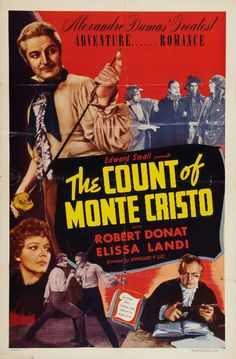 Robert Donat and Elissa Landi in The Count of Monte Cristo Iconic Movie Posters, Iconic Movies, Film Posters, Count Monte Cristo, Robert Donat, Top Film, Film Watch, Two Movies, Hero Movie