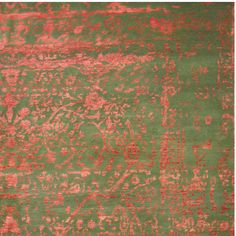 Herat Oriental Indo Hand-knotted Erased Wool and Silk Area Rug (10' x 14') - Free Shipping Today - Overstock.com - 18410950