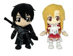 Set of 2 Great Eastern Sword Art Online Plush - Kirito / Asuna