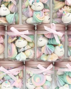 resh from the oven! Unicorns + Pastel Rainbow Meringue Kisses in our new Rosegold Jars any for you? Meringue Cookies, Cake Cookies, Cupcake Cakes, Cakepops, Pastel Party, Unicorn Baby Shower, Cute Desserts, Party Treats, Party Favors