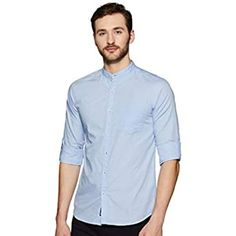 Buy Dennis Lingo Men's Plain Slim Fit Casual Shirt (C201_Blue_Small) at Amazon.in Slim Fit Casual Shirts, Men Casual, Workout Shirts, Chef Jackets, Mens Fashion, Amazon, Medium, Brown, Sleeves