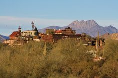 The abandoned mining town of Goldfield on the Apache Trail, AZ.