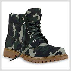 UNISEX Damen Herren Worker Boots Profil Sohle Stiefeletten Outdoor Schuhe  133058 Camouflage Hellbraun 41   Flandell ad03b86c21