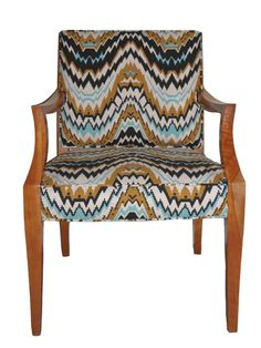 Redesigned Vintage Danish Wooden Armchairs by JessicaAllynDesigns