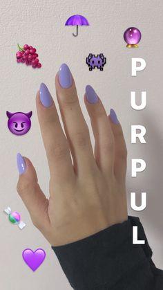 Pastel Nails, Purple Nails, Perfect Nails, Gorgeous Nails, Trendy Nails, Cute Nails, French Gel, Gel Nails, Nail Polish