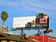 Google Play Unlimited music special extension billboard