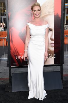 Katherine Heigl Off-the-Shoulder Dress - Brand: Blumarine
