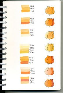 Copic Swatch Book...orange combos