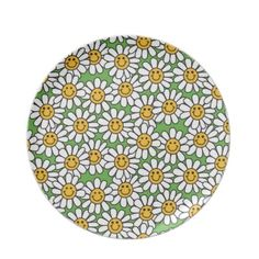 #Smiley #Daisy #Flowers #Pattern #Dinner #Plates $28.10