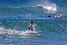 Keiki means baby but this kid (about 8) was no child riding these waves.  I love to watch children surf. This was some of the best I've ever seen. Imagine surfing on these North Shore waves. NO FEAR in the way they just attacked the waves. I don't thi http://driftingthru.com