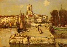 A Sunlit Port by Jean Francois Raffaelli