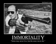 Hunter S. Thompson Motivational Poster