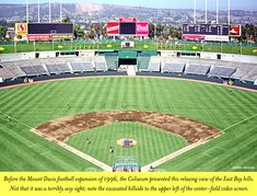 Bay Hill, Oakland Coliseum, East Bay, Baseball Field, The Expanse, Google Images, The Past