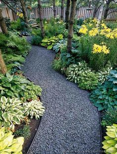 Walkway with stones