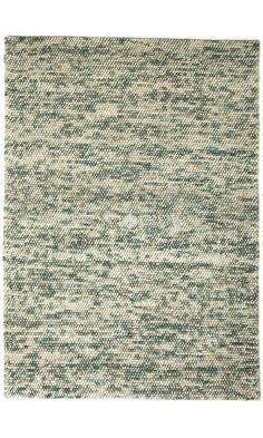 Blue White Handmade Wool Spherical Rug