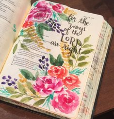 Hosea 14 Bible art journaling by @patjournals. Watercolor