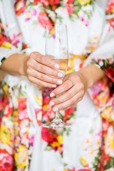Neutral Bridal Nail Inspiration by Moana Events