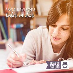 Revise todo o conteúdo estudado durante o dia! #concursos #estudos #foco #rotina #dica