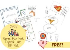 Poppins Book Nook The Great Outdoors Theme Introduction with FREE lapbook and bookmark! - Enchanted Homeschooling Mom
