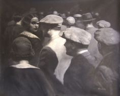 British Figurative Painter Hamish Blakely a face in the crowd