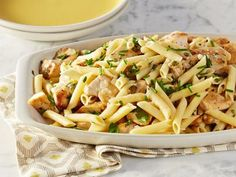 Chicken Piccata Pasta Toss Recipe courtesy of Rachael Ray