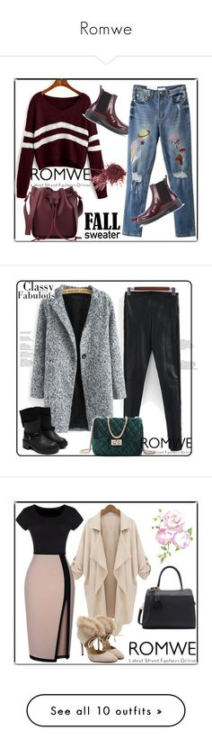 """""""Romwe"""" by almamehmedovic-79 ❤ liked on Polyvore featuring vintage"""