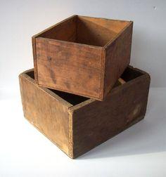 old wood bins for storage