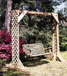 Building A Swing Arbor Is A Fun And Easy Weekend Project To Create A New  Outdoor Area For Rest And Relaxation.