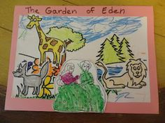 Tiny Hearts Blog: Lesson 10: Intro to Garden of Eden and Adam and Eve