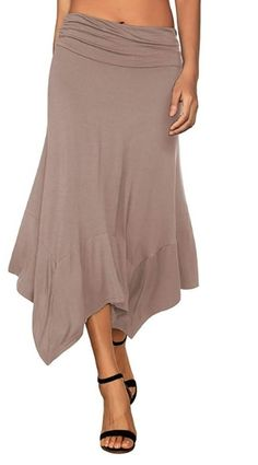 New Womens Side Split Cut out Open Ruched Gathering Maxi Skirts 16-22