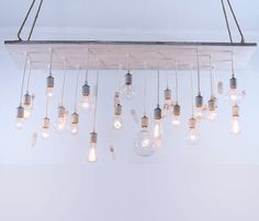 Quartz Chandelier, can't get over these exposed bulb chandeliers. If only there were room in my tiny apartment!