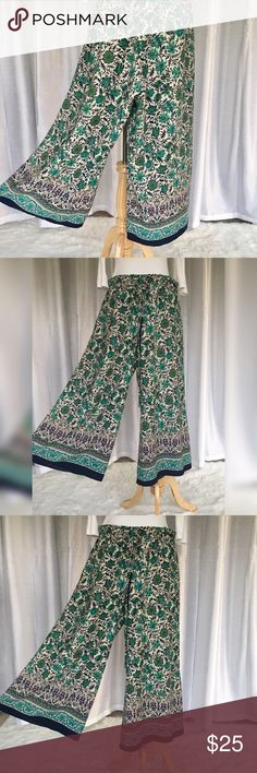 🌼 Forever 21 Bohemian Hippie Pants Really cute Forever 21 Bohemian Hippie Pants. Stretch waist with tie string. Very soft and thin fabric. Material:100% Polyester. Forever 21 Pants