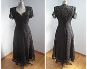 Witchy 1980's maxi dress, $40.00