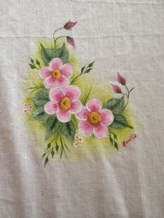 Painting on fabric, painted with DecoArt SoSoft acrylic fabricpaint.