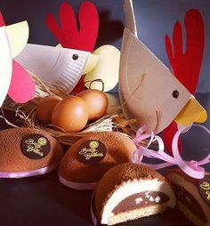 Créations individuelles pour Pâques, forcément autour du chocolat mais aussi de la noisette et du praliné