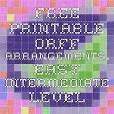 Free Printable Orff Arrangements, Easy-Intermediate Level