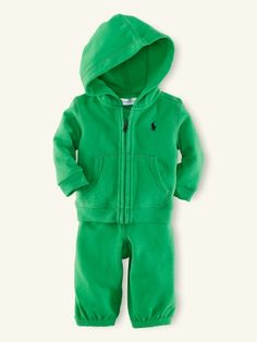 Fleece Hoodie & Pant Set - Layette Outfits & Gift Sets - RalphLauren.com