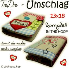 ToDo - Umschlag Patchwork 13x18 Stickdatei IN THE HOOP