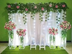 Engagement Stage Decoration, Rustic Wedding Backdrops, Backdrop Decorations, Outdoor Wedding Decorations, Flower Decorations, Wedding Mandap, Wedding Receptions, Wedding Stage Design, Background Decoration