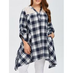 SHARE & Get it FREE | Plus Size Asymmetrical Plaid Smock BlouseFor Fashion Lovers only:80,000+ Items·FREE SHIPPING Join Dresslily: Get YOUR $50 NOW!